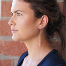 Extra Long Beaded Cluster Earrings Image