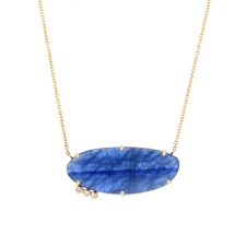 Kyanite Gold Triple Diamond Necklace Image