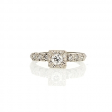 White Gold Diamond Ring Image