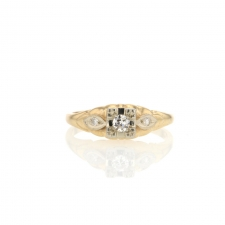 Yellow Gold Vintage Diamond Ring Image