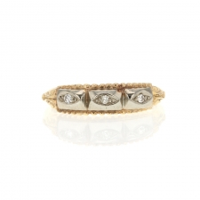 14k Diamond Triple Ring Image