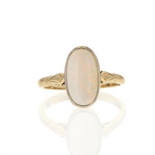 9k White Opal Ring Image