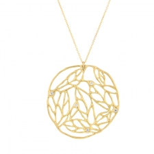 Large Organic Circular Gold Necklace Image