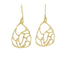 Domed Lacy Gold Earrings Image