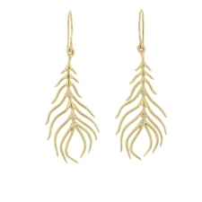 Organic Feather Gold Earrings Image