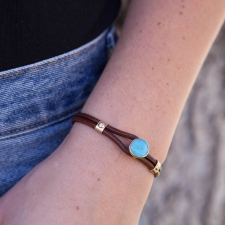 Australian Opal Leather Bracelet Image