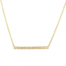 Yellow Gold Diamond Bar Necklace Image