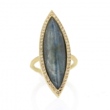 Marquise Kyanite White Diamond Ring Image