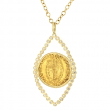 12th Century Gold Coin with Diamond Necklace Image