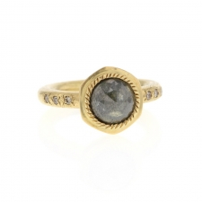 Grey Rosecut Diamond Gold Ring Image