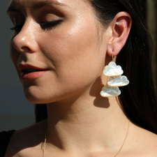 Daydreamer Cloud Cluster Gold Earrings Image