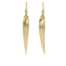 Japanese Grass Blade Gold Earrings Image