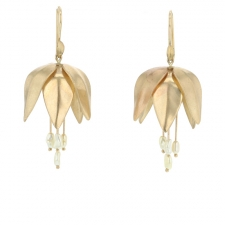 Gold Crown Imperial Earrings with Pearls Image