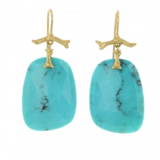 Turquoise Slice Branch Earrings Image