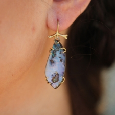 Boulder Opal Gold Branch Earrings Image
