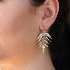 10k Gold Fern Earrings Image