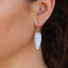 Rainbow Moonstone 18k Simple Bird Earrings Image