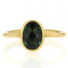Green Tourmaline Gold Ring Image
