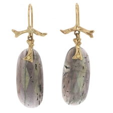 Labradorite 14k Gold Branch Earrings Image