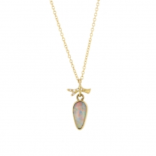 Australian White Opal Gold Necklace Image