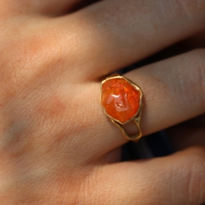 Mexican Jelly Fire Opal Ring Image