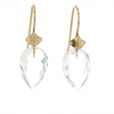 Large Rock Crystal Simple Bug Earrings Image