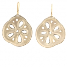 Silver Lotus Root Earrings Image