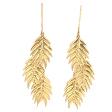 Wild Oat Grass Gold Earrings Image
