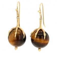 Tigers Eye Egg Earrings Image