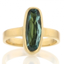 Blue Green Tourmaline 18k Ring Image