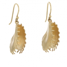 Venus Fly Trap Gold Earrings Image