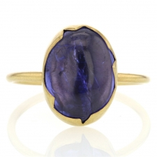 Tanzanite 18k Gold Egg Ring Image