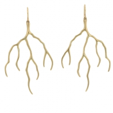 Gold Lightning Earrings Image