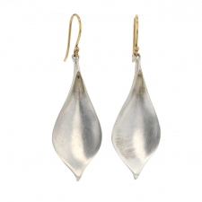 Silver Crocus Petal Earrings Image