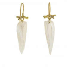 American Natural Pearl Diamond Branch Earrings Image