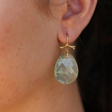 Prehnite Slice Branch Earrings Image