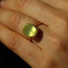 Yellow Prehnite Gold Ring Image