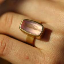 Rose Quartz Gold Ring Image