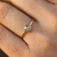 Round rose cut diamond ring Image
