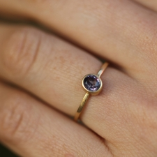 Rose Spinel Gold Ring