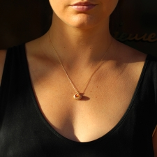 Mexican Matrix Small Gold Necklace