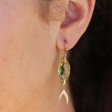 Citrine Fish Gold Earrings Image
