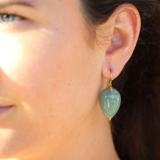 Nephrite Jade Gold Earrings Image