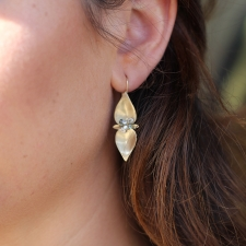 Large Mint Gold Earrings Image