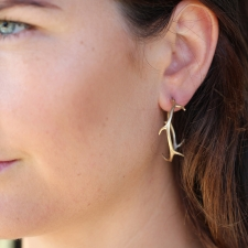 Large Gold Thorn Hoops Image