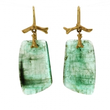 Emerald Branch Gold Earrings Image