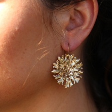10k Large Lichen Earrings Image