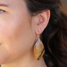 Large Tigers eye Earrings Image