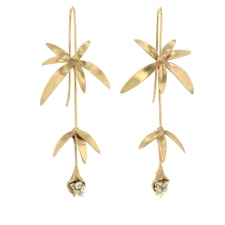 Long Wild Flower Earrings with Keishi Pearls Image