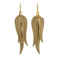 Gold Bird of Paradise Earrings Image